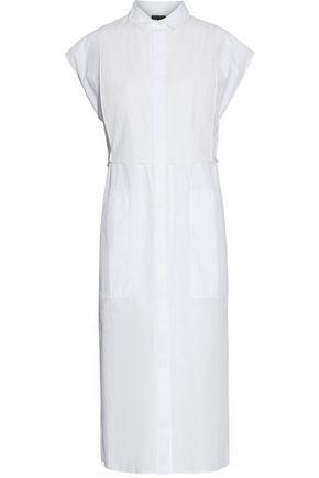 RAG & BONE Gauze-paneled cotton-poplin shirt dress