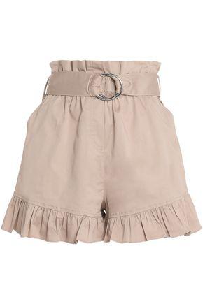 CINQ À SEPT Braxton ruffle-trimmed cotton-blend twill shorts