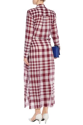 c34cd15415 Checked cotton-gauze shirt dress | THEORY | Sale up to 70% off | THE ...