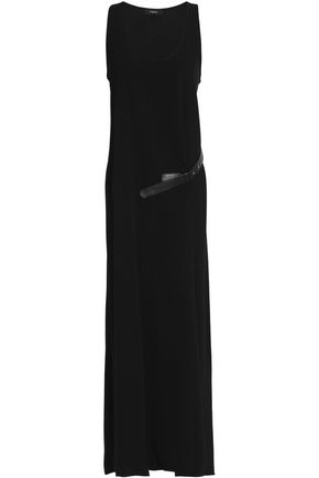 THEORY Belted jersey midi dress