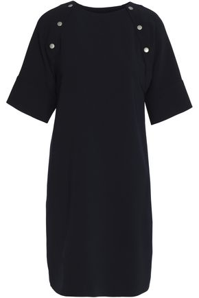THEORY Button-trimmed cady mini dress