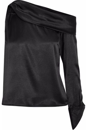 W118 by WALTER BAKER One-shoulder draped satin top