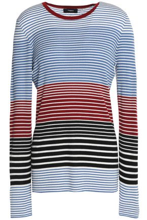 THEORY Striped merino wool sweater