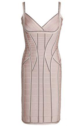 HERVÉ LÉGER Zehra jacquard-trimmed bandage mini dress
