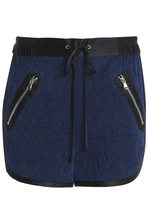 3.1 PHILLIP LIM Satin-trimmed floral-jacquard shorts
