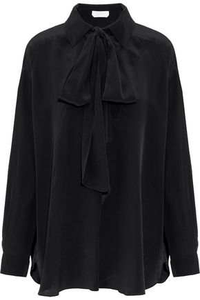 CHLOÉ Pussy-bow silk-crepe blouse
