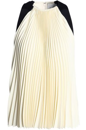 3.1 PHILLIP LIM Two-tone pleated twill top