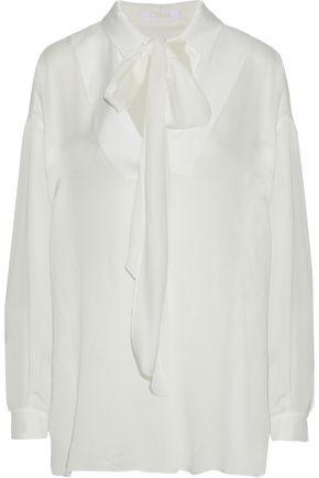 CHLOÉ Pussy-bow crepe de chine blouse