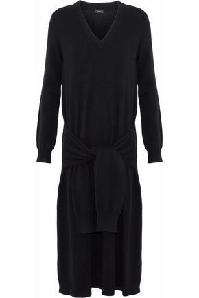 JOSEPH Elie tie-front wool midi dress