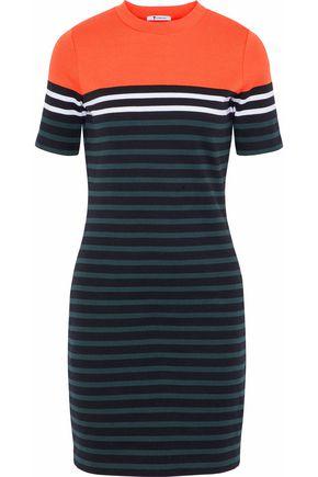 ALEXANDER WANG Striped stretch-cotton mini dress