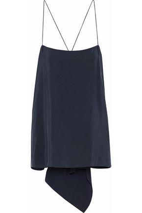 THEORY Asymmetric washed-silk camisole
