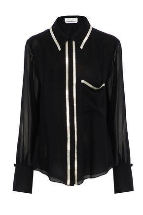CHLOÉ Bead-embellished silk-chiffon shirt