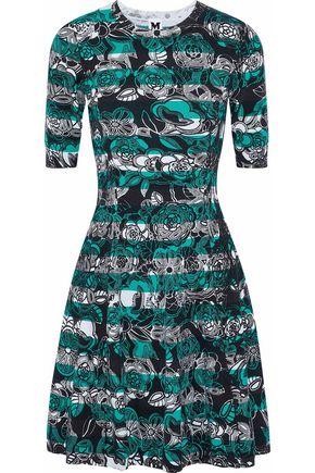 M MISSONI Flared printed stretch-knit mini dress