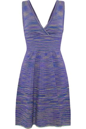 M MISSONI Crochet-knit merino wool-blend mini dress