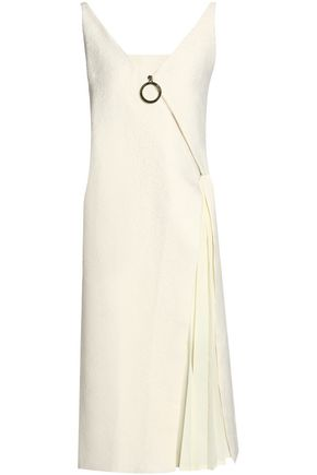 MOTHER OF PEARL Pleated jacquard midi dress