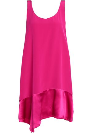 3.1 PHILLIP LIM Satin-trimmed silk-crepe dress