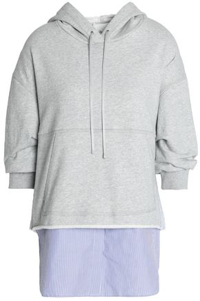 3.1 PHILLIP LIM Hooded embroidered cotton-terry sweatshirt