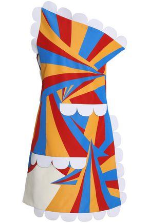 VICTORIA, VICTORIA BECKHAM One-shoulder printed faille mini dress