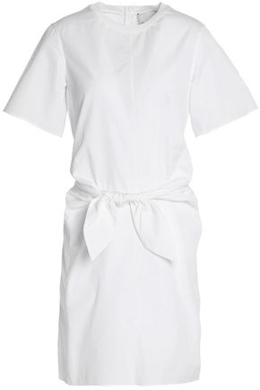 3.1 PHILLIP LIM Knotted cutout cotton-poplin mini dress