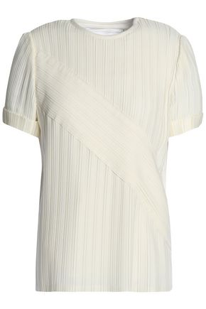 VICTORIA, VICTORIA BECKHAM Pleated crepe top