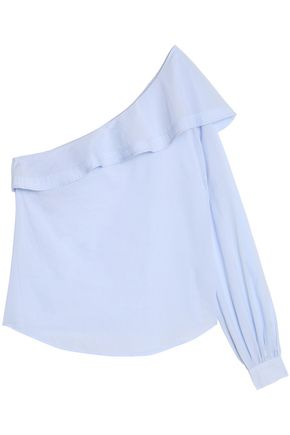 A.L.C. One-shoulder ruffled cotton top