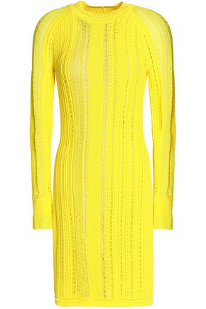 3.1 PHILLIP LIM Two-tone pointelle-paneled open-knit mini dress