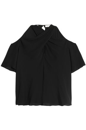 A.L.C. Cutout silk-crepe top