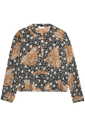 A.L.C. Printed silk-georgette blouse
