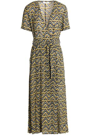 A.L.C. Printed silk-crepe midi dress