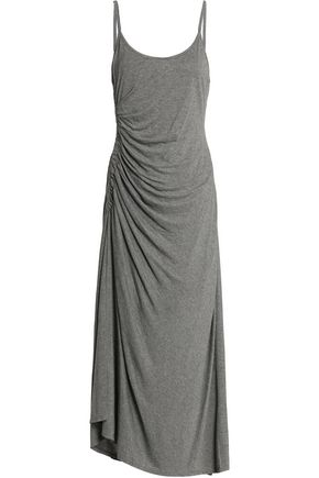 A.L.C. Ruched melange stretch-jersey midi dress