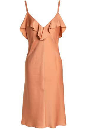 A.L.C. Ruffled crepe de chine dress