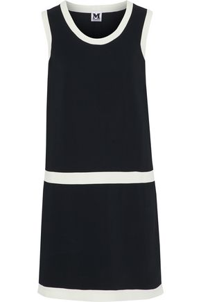 M MISSONI Two-tone crepe mini dress