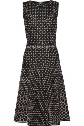 M MISSONI Lamé knitted flared dress