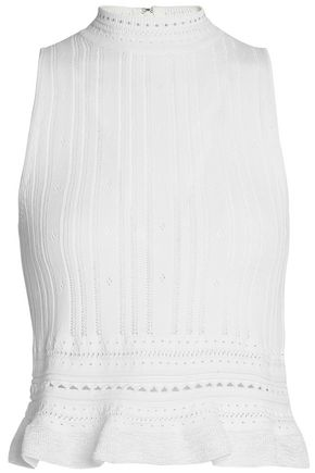 3.1 PHILLIP LIM Pointelle-trimmed stretch-knit top