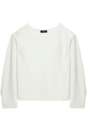 THEORY Waffle-knit sweater