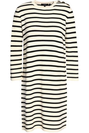 THEORY Striped knitted mini dress