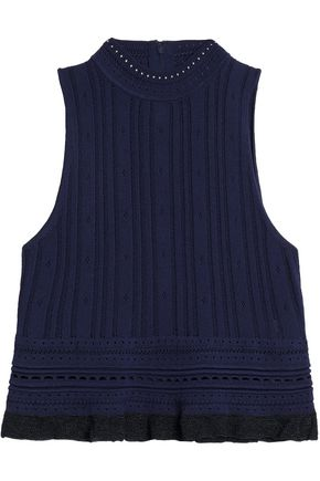3.1 PHILLIP LIM Pointelle-knit top