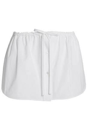 ALEXANDER WANG Layered skirt-effect cotton-poplin shorts