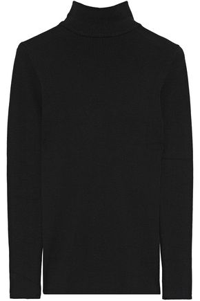 IRIS & INK Billie ribbed cotton-blend turtleneck sweater