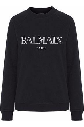 BALMAIN Printed French cotton-terry sweatshirt