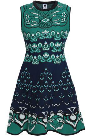 M MISSONI Printed jacquard-knit mini dress