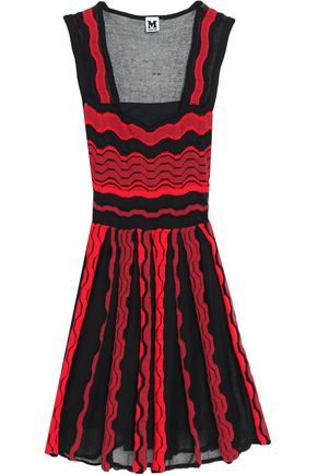 M MISSONI Two-tone crochet-knit mini dress