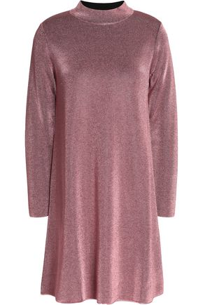 M MISSONI Flared metallic stretch-knit mini dress