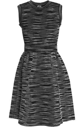 M MISSONI Flared textured stretch-knit mini dress