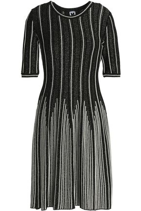 M MISSONI Metallic ribbed and crochet-knit dress