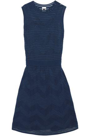 M MISSONI Crochet-paneled stretch-knit mini dress