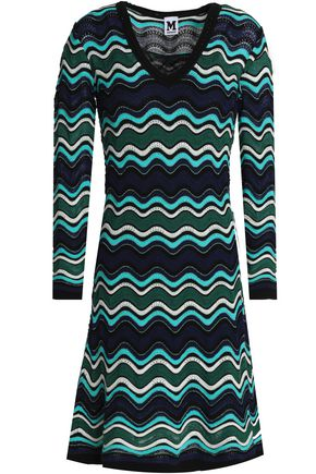 M MISSONI Metallic textured crochet-knit dress