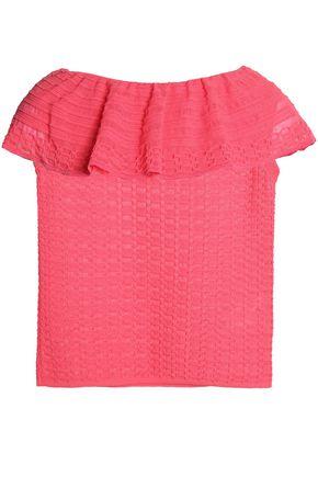 M MISSONI Ruffled crochet-knit top