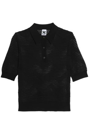 M MISSONI Crochet-knit polo shirt