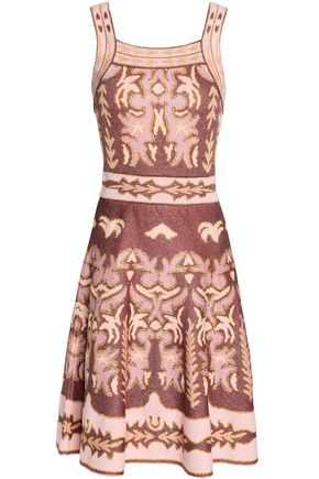 M MISSONI Fluted jacquard-knit dress